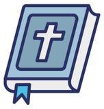 La biblia, libro bíblico aisló el icono del vector que puede modificarse o corregir fácilmente stock de ilustración
