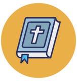 La biblia, libro bíblico aisló el icono que puede modificar o corregir fácilmente la biblia, del vector el icono aislado libro bí stock de ilustración