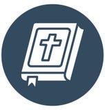 La biblia, libro bíblico aisló el icono que puede modificar o corregir fácilmente la biblia, del vector el icono aislado libro bí libre illustration