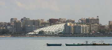 Biblioteca di Alessandria d'Egitto Fotografia Stock