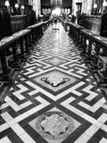 La biblioteca centrale dell'università di Oxford spara in bianco e nero Fotografia Stock