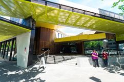 La biblioteca de Bendigo en Bendigo central es parte de bibliotecas de los yacimientos de oro foto de archivo libre de regalías
