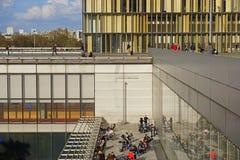 La biblioteca de Bibliotheque Nationale de Francia en París, Francia Foto de archivo