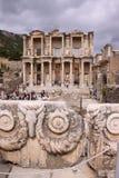 La biblioteca de Celsus en Ephesus Imágenes de archivo libres de regalías