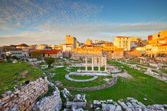 La biblioteca de Hadrian, Atenas fotografía de archivo
