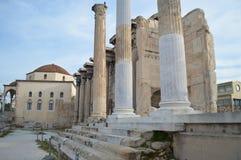 La biblioteca de Hadrian en Atenas Imagen de archivo libre de regalías