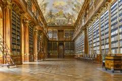 La biblioteca de Strahov en Praga fotos de archivo libres de regalías