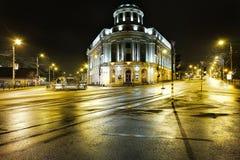 La biblioteca de universidad central en la ciudad de Iasi, Rumania Foto de archivo libre de regalías