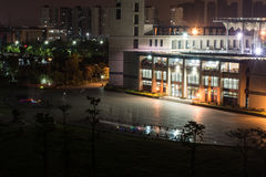 La biblioteca dell'università di Fuzhou Fotografia Stock Libera da Diritti