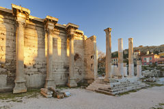 La biblioteca di Hadrian, Atene Fotografie Stock