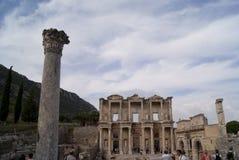 La biblioteca en Ephesus Fotos de archivo