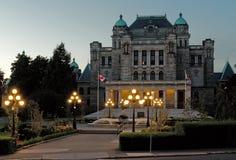 La biblioteca legislativa de la Columbia Británica Imagen de archivo