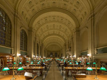 La biblioteca pública de Boston fotografía de archivo