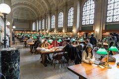 La biblioteca pública de Boston Imagen de archivo libre de regalías