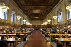 La biblioteca pública de Nueva York Fotos de archivo