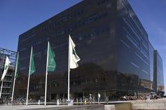 La biblioteca real en el puerto de Copenhague. Dinamarca Foto de archivo
