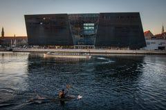 La biblioteca reale nel porto di Copenhaghen denmark immagine stock libera da diritti