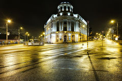 La biblioteca universitaria centrale in città di Iasi, Romania Fotografia Stock Libera da Diritti