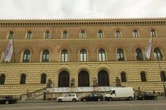 La biblioteca universitaria del LMU Monaco di Baviera Immagini Stock Libere da Diritti