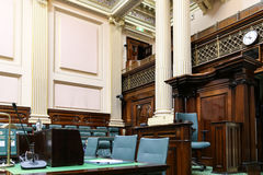 La bibliothèque dans la maison du parlement, Melbourne, Australie Photographie stock