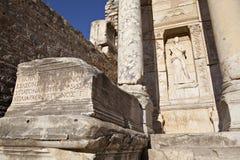 La bibliothèque de Celsus Photographie stock