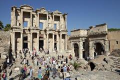 La bibliothèque de Celsus dans Ephesus Photos libres de droits