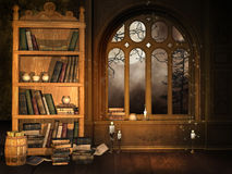 La bibliothèque du magicien Photo libre de droits