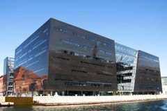 La bibliothèque royale de Copenhague, Danemark Photographie stock