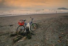 La bici del pescatore Fotografie Stock Libere da Diritti