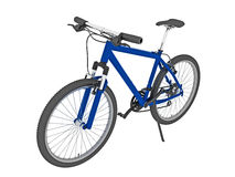 La bici di montagna blu ha isolato Fotografie Stock Libere da Diritti