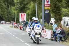 La bici medica - Tour de France 2015 Fotografie Stock Libere da Diritti