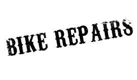 La bici ripara il timbro di gomma Fotografia Stock Libera da Diritti