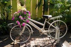 La bicicleta florece la decoración Imagen de archivo libre de regalías