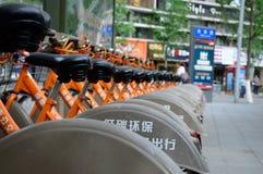 La bicicleta pública de Chengdu Imágenes de archivo libres de regalías
