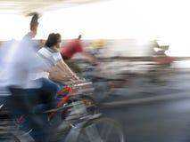 La bicicleta roja Fotografía de archivo
