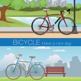La bicicleta tiene un día agradable Imagenes de archivo