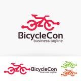 La bicicletta collega la progettazione di logo Immagini Stock