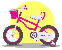 La bicicletta dei bambini rosa Fotografie Stock
