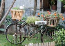 La bicicletta del caffè espresso Fotografie Stock