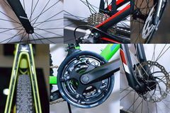 La bicicletta parte la bici della strada del collage Fotografia Stock Libera da Diritti