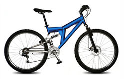 la bicyclette a isolé Photo stock