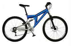la bicyclette a isolé Photographie stock libre de droits