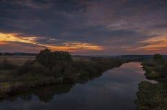 La Bielorussia: bello declino e fiume Neman Fotografie Stock