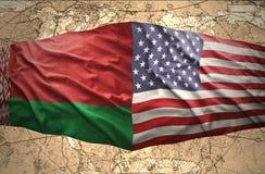 La Bielorussia e gli Stati Uniti d'America Fotografie Stock Libere da Diritti