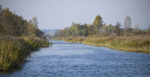 La Bielorussia: Estate di San Martino, canale di Vileysko-Minsky Immagine Stock Libera da Diritti
