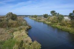 La Bielorussia: il fiume Neman vicino allo stabilimento Stolbtsy Immagine Stock