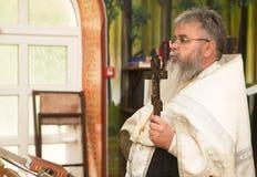 LA BIELORUSSIA, MINSK - 23 LUGLIO 2017 La chiesa del Virgi benedetto Immagini Stock Libere da Diritti