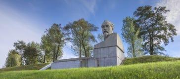 La Bielorussia, Stolbtsy: un monumento nella patria di Felix Dzerzhinsky Fotografie Stock Libere da Diritti