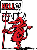 La bienvenue du diable Illustration Libre de Droits