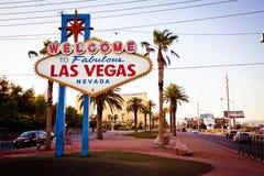 La bienvenue vers Las Vegas fabuleuse signent dedans Las Vegas Photos stock